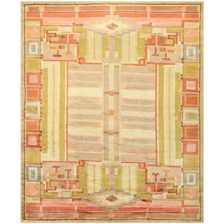 French Art Deco Rug - 7′11″ × 10′ For Sale