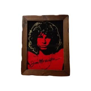 1970 Jim Morrison Reverse Painting on Glass