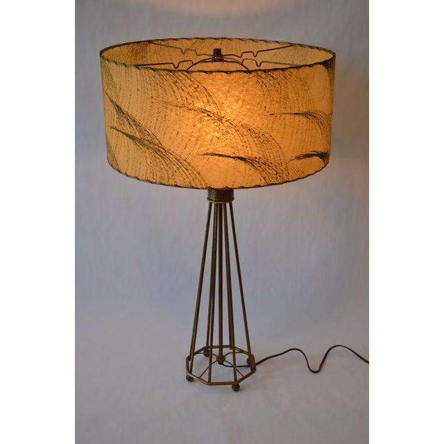 Atomic Modern Wire Frame Lamp and Shade For Sale - Image 11 of 12
