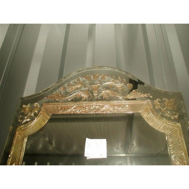 Gold Vintage 20th Century Beveled Foil Mirror For Sale - Image 8 of 8