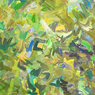 """Wild Summer"" by Trixie Pitts Large Abstract Oil Painting For Sale"