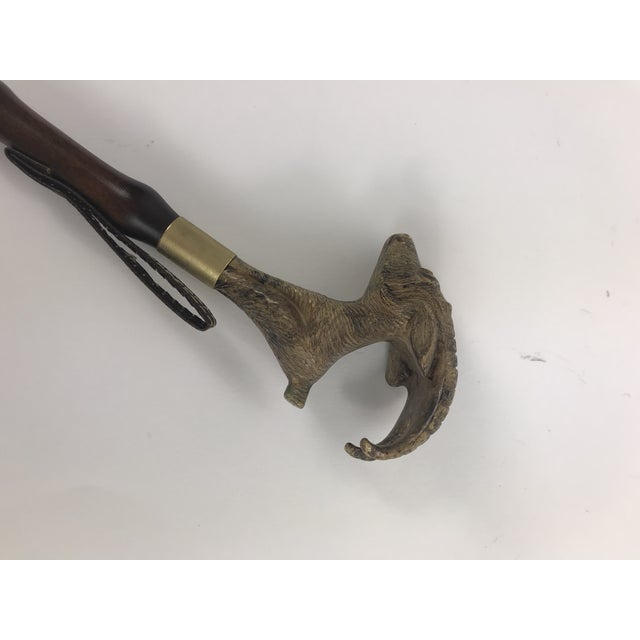1970s English Traditional Mountain Goat Head Shoe Horn For Sale - Image 5 of 9