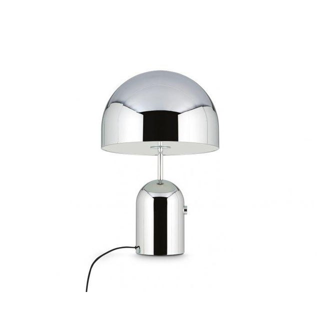 Bell table light – SUPERSIZED – sleek, silver and perfectly reflective. Bell is fitted with an integrated, smooth dimmer...