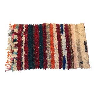 "Vintage Boucherouite Rag Rug - 3'4""x5'2"""