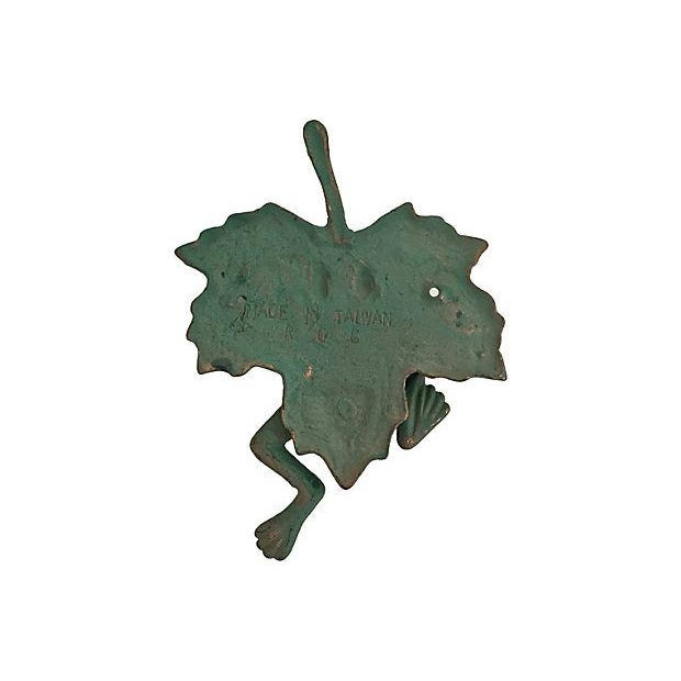 Green & Gold Frog Door Knocker - Image 3 of 7