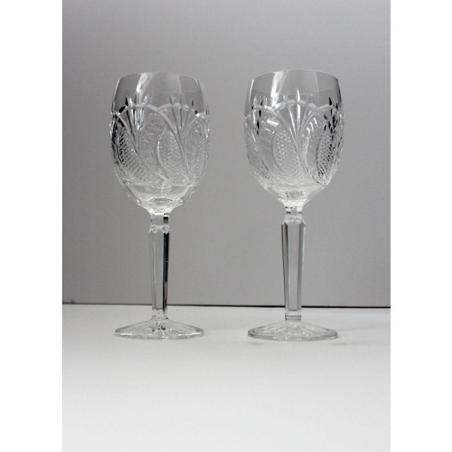 2000s American Classical Waterford Crystal Wine Glasses - a Pair For Sale - Image 5 of 5