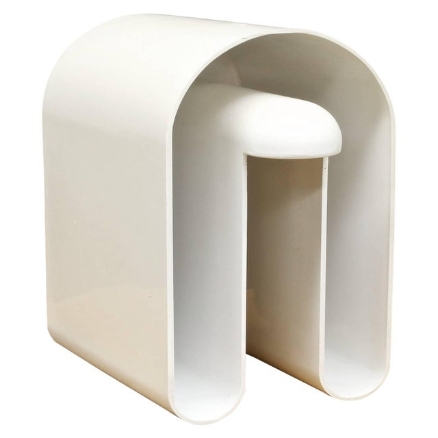 Vintage 1960s Rodlofo Bonetto Abstract Plastic Magazine Holder Vessel Minimalist For Sale In Washington DC - Image 6 of 6