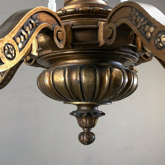 Antique Italian Giltwood Chandelier For Sale - Image 10 of 13