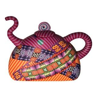 Modern Signed Karyn Kozak Polymer Clay Teapot