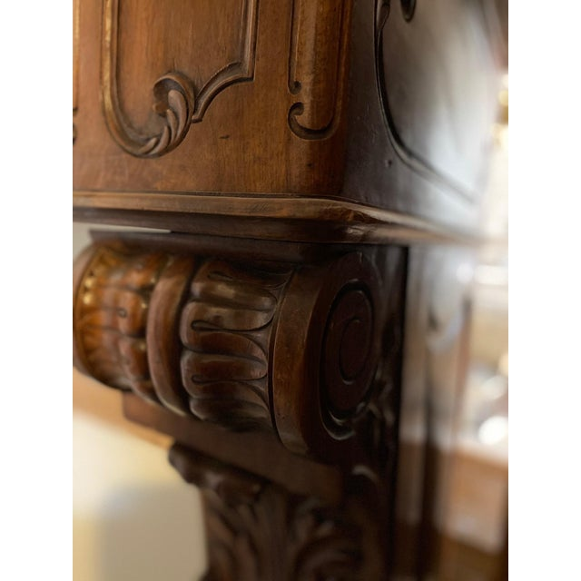 French Antique Wood Mantel For Sale - Image 3 of 7