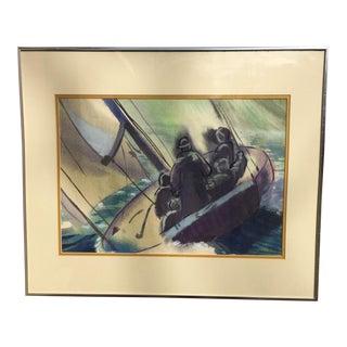 Original Arts & Crafts Pastel Painting by Margaret Gilliam For Sale