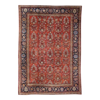 Vintage Persian Mahal Rug With Traditional Style For Sale