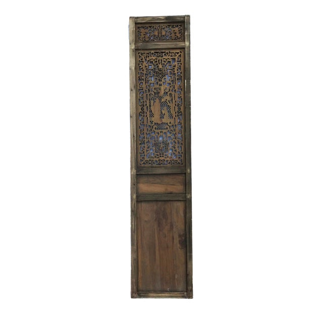 """Wood Old Chinese Hand Carved Wood /Door /Panel 86"""" H For Sale - Image 7 of 9"""