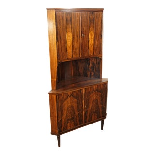"""Danish Modern Rosewood Corner Cabinet - """"Dalmose"""""""