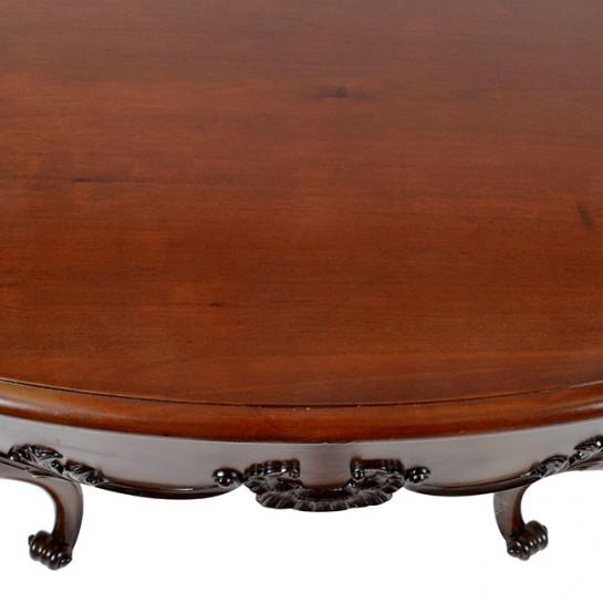 19th Century Traditional Oval Mahogany Center Table For Sale - Image 10 of 11