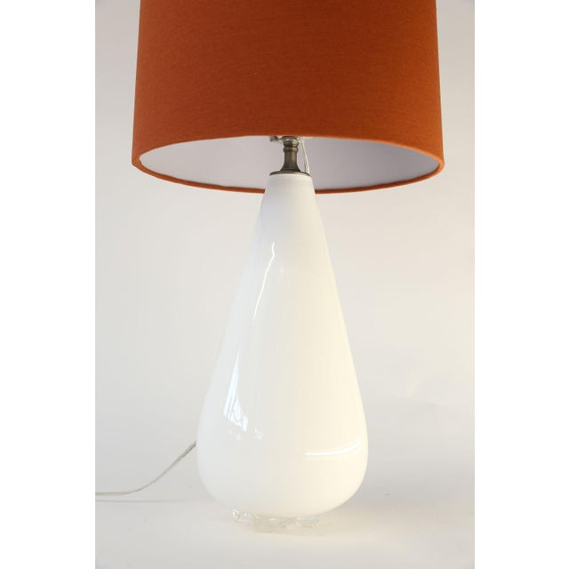 White Glass Table Lamp For Sale - Image 4 of 10