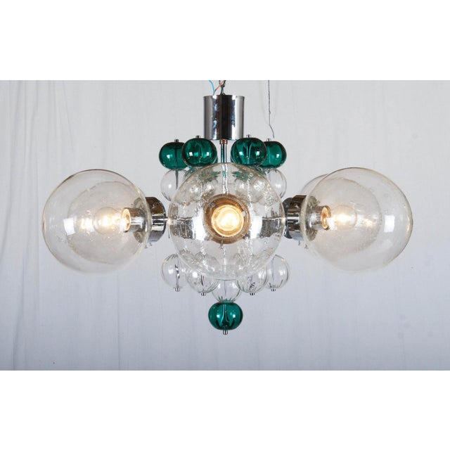 Large Chandelier with Hand Blown Ball Lights by Kamenicky Senov, 1970s For Sale - Image 11 of 11