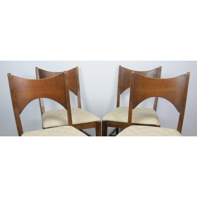 Mid-Century Modern Walnut Bowtie Dining Chairs by Lenoir - Set of 4 For Sale - Image 9 of 13