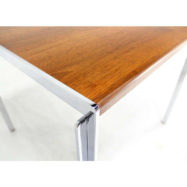 Metal Mid-Century Modern Stow Davis Walnut and Chrome Coffee Table For Sale - Image 7 of 11