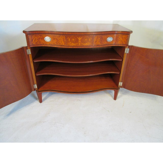 Wood 1940s Vintage Schmieg and Kotzian Satinwood Chest For Sale - Image 7 of 12