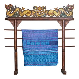 Hmong Blue Blanket For Sale