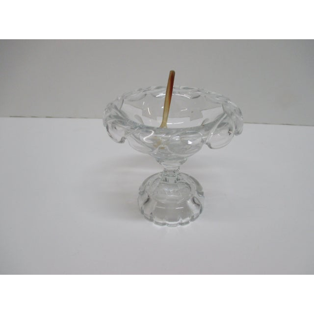 Late 20th Century Vintage Caviar Crystal Caviar Dish From British Designer William Yeoward With Little Horn Spoon For Sale - Image 5 of 5