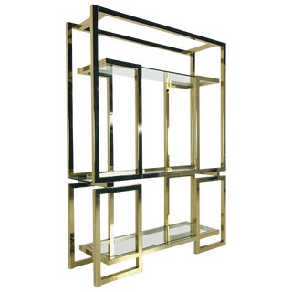 Brass Milo Baughman Etagere For Sale