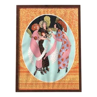 Edwardian Women Framed Print For Sale
