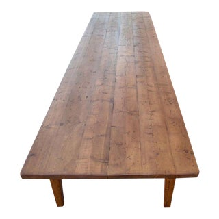 Conference Table in Reclaimed Pine, by Petersen Antiques For Sale