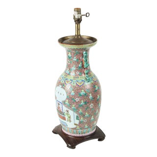 Chinese Ceramic Table Lamp For Sale