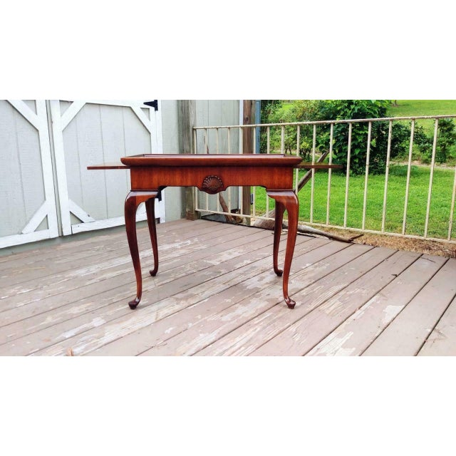 Vintage Traditional Brandt Mahogany Tea Table For Sale - Image 11 of 13