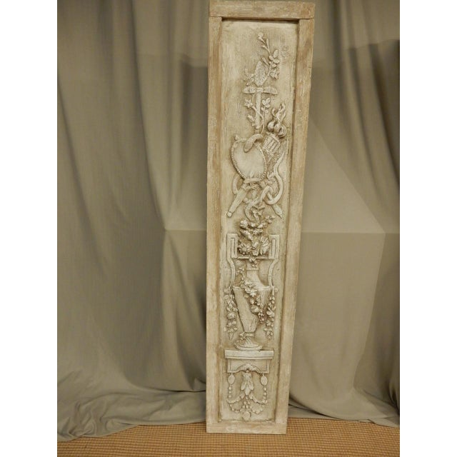 French Classical Plaster Reliefs - a Pair For Sale - Image 4 of 7
