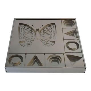 Gregory Copeland Op Art Butterfly Mirror For Sale
