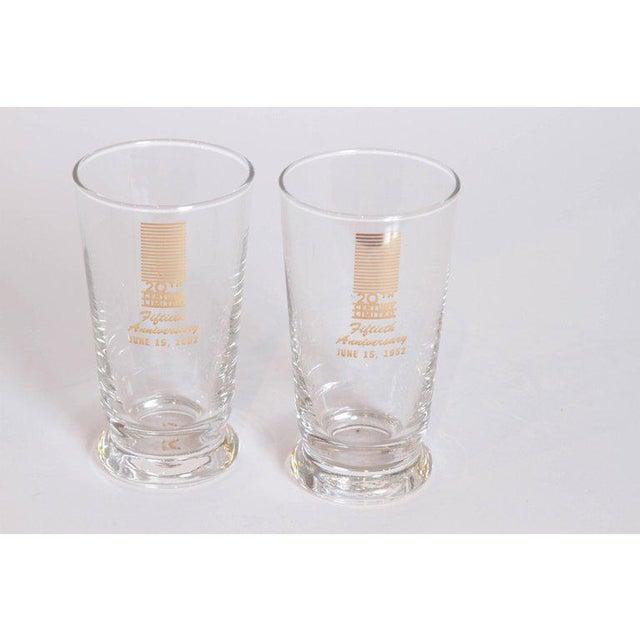 Art Deco 20th Century Limited Glassware, Fiftieth Anniversary June 15, 1952. Unused in Original Box Rare set of seven...
