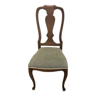 1990s Vintage Italian Queen Anne Style Side Chair For Sale