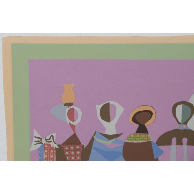 Mid 20th Century Mid Century Figural Abstract Lithograph by Jean Varda C.1950 For Sale - Image 5 of 8