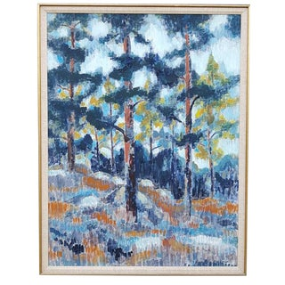 Stephen Thomas Rascoe Abstract Landscape 'Forest' For Sale