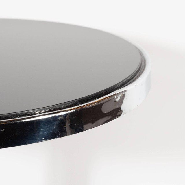 Art Deco Machine Age Chrome, Marble and Vitrolite Drinks Table For Sale - Image 4 of 10