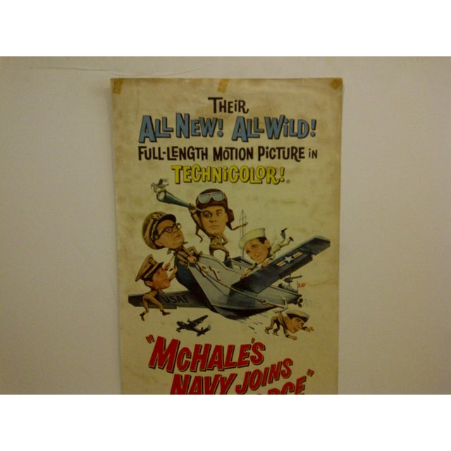 """Mid-Century Modern Vintage """"Mchales Navy Joins the Air Force"""" 1965 Movie Poster For Sale - Image 3 of 6"""