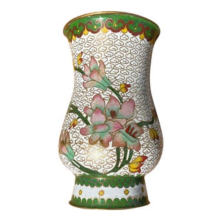 Mid 20th Century Enameled Cloisonné Vase For Sale