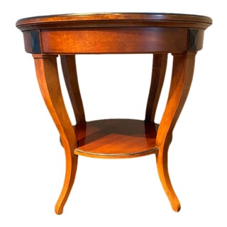 Hickory Chair Co. Round Chestnut Lamp Table For Sale