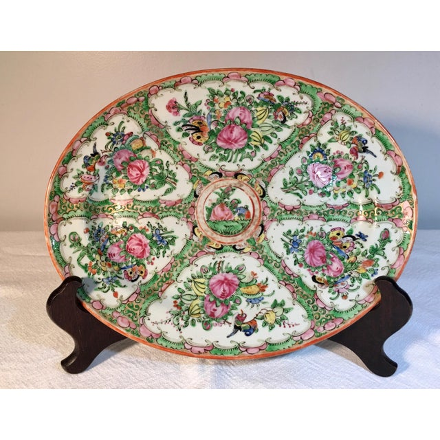 19th Century Chinese Rose Medallion Platter For Sale - Image 9 of 9