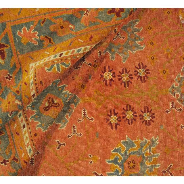 Vintage Square Turkish Oushak Rug, 6'6 X 6'8 For Sale - Image 4 of 5