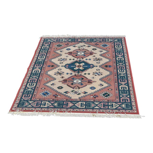 Aztec Style Rug - 5′6″ × 7′10″ For Sale