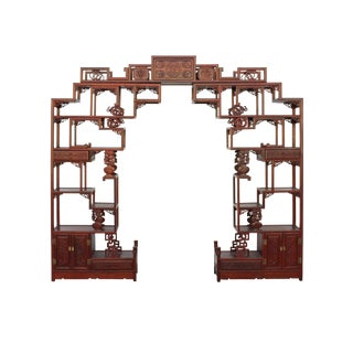 Chinese Huali Rosewood Curio Large Display Cabinet Room Divider