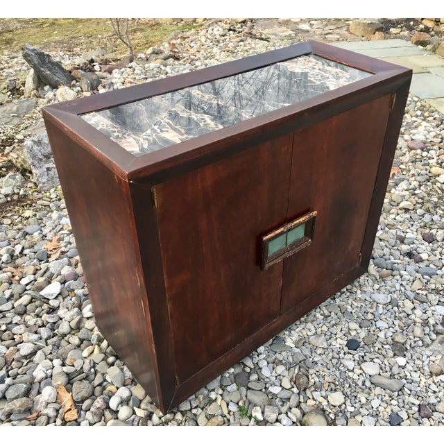 50's Marble Top Bar Cabinet - Image 5 of 11