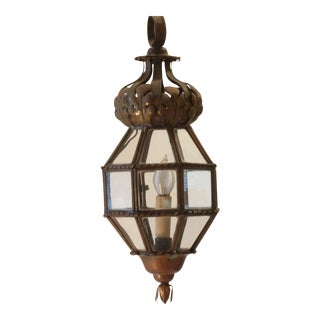 Italian Copper & Brass Lantern For Sale