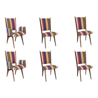 1950s Vintage Vladimir Kagan Studio Dining Chairs- Set of 6 For Sale