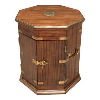 Late 19th Century Campaign Mahogany Brass Bound Side Table For Sale