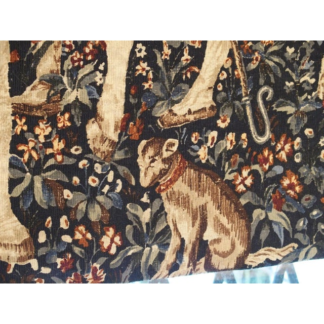 Textile Medieval Style Tapestry from France, 20th Century For Sale - Image 7 of 12